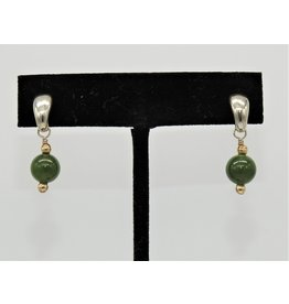 Paula Sass-Donnelly PSD-E23C SS/Jadite & 14k Bead Earrings