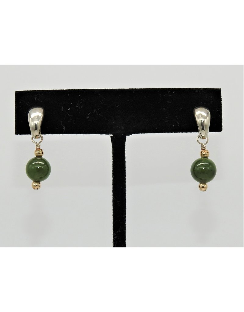 Paula Sass-Donnelly PSD-E23C SS/Jadite & 14k Bead Earrings