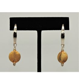 Paula Sass-Donnelly PSD-E24C SS w/Gold Vermeil Disc Earrings