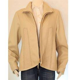 Gossamer Wings KG Cream Deerskin w/ Beaded Eagle Jacket