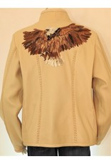 Gossamer Wings Cream Italian Deerskin w/ Beaded Eagle Jacket