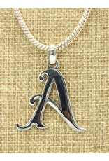 Mariano Draghi Sterling Silver Initial A Small Pendant