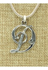 Mariano Draghi Sterling Silver Initial D Small Pendant