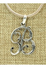 Mariano Draghi Sterling Silver Initial B Small Pendant