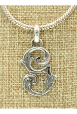 Mariano Draghi Sterling Silver Initial G Small Pendant (lg bail)