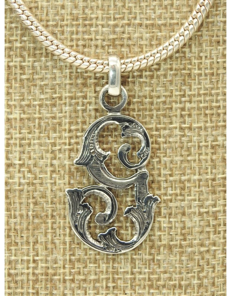 Mariano Draghi MD-Sterling Silver Initial G Small Pendant