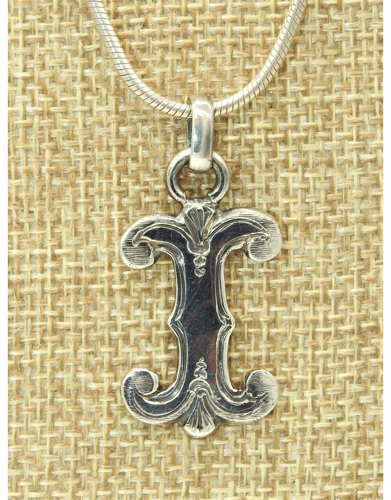 Mariano Draghi MD-Sterling Silver Initial I Small Pendant