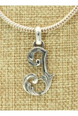 Mariano Draghi MD-Sterling Silver Initial J Small Pendant