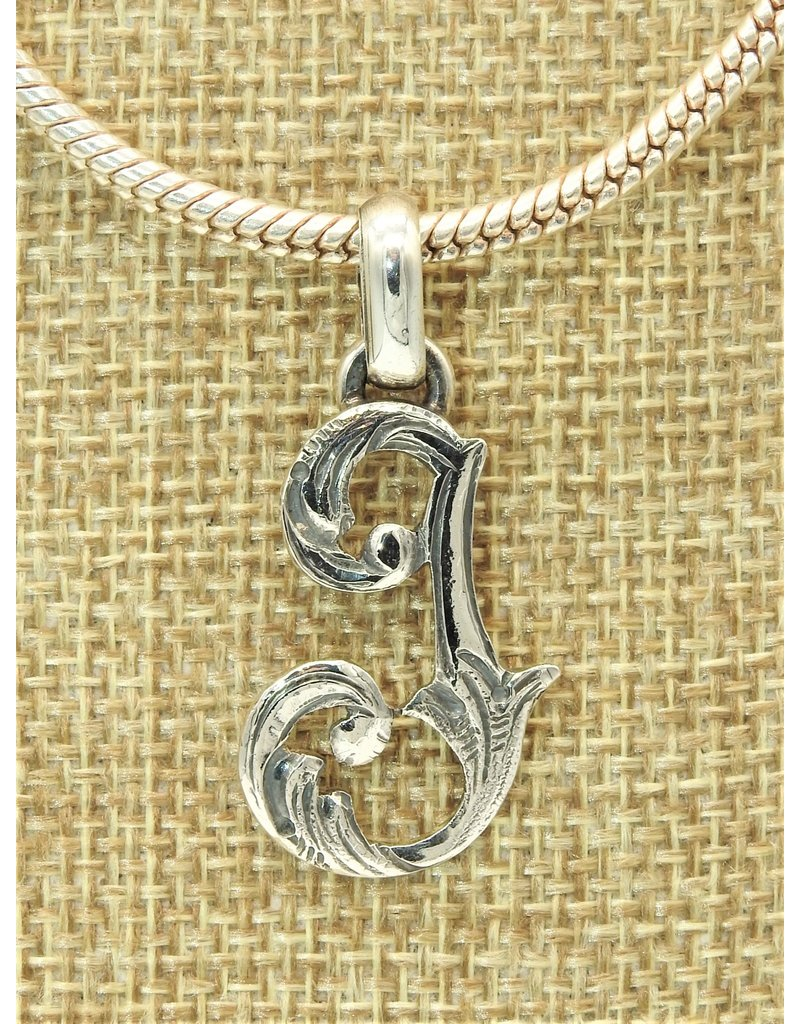 Mariano Draghi Sterling Silver Initial J Small Pendant