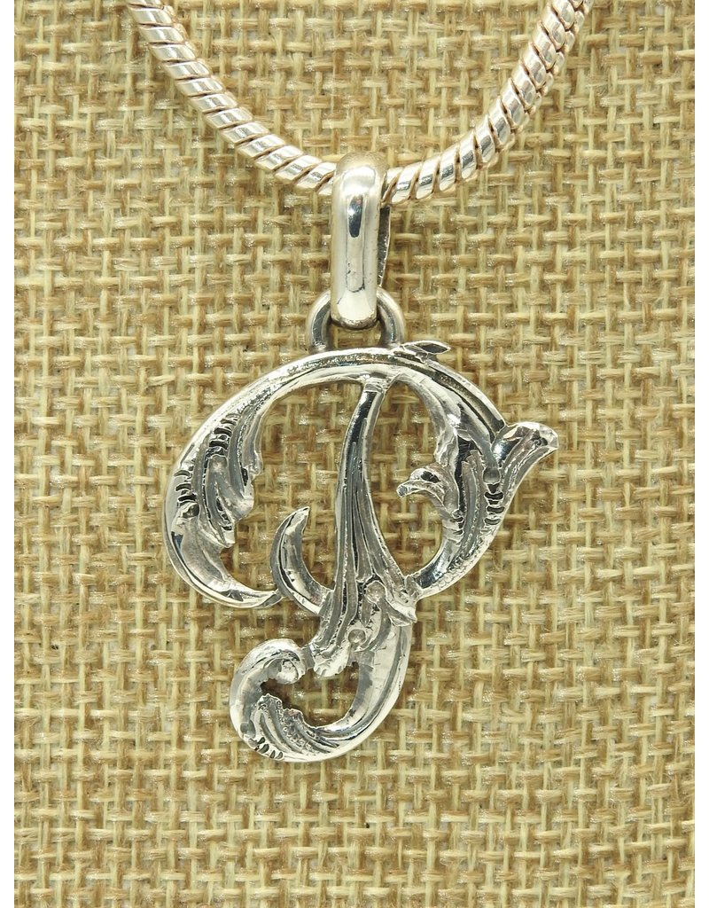 Mariano Draghi MD-Sterling Silver Initial P Small Pendant