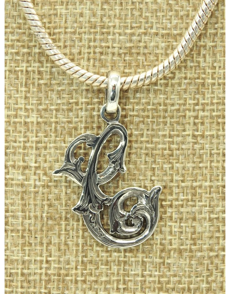 Mariano Draghi Sterling Silver Initial C Small Pendant