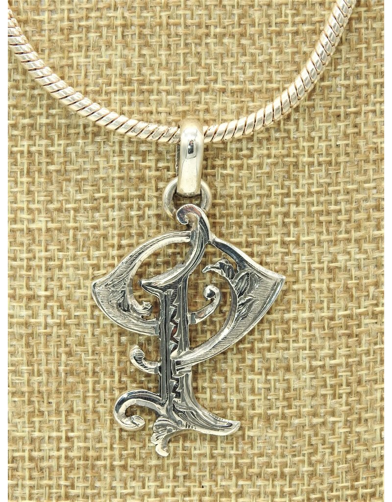 """Mariano Draghi SS Initial P Med.Pendant (1 3/4"""")"""