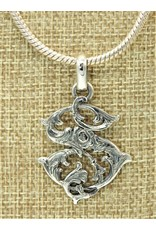 """Mariano Draghi SS Initial S Med.Pendant (1 3/4"""")"""