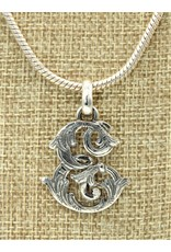 """Mariano Draghi MD-C  SS Initial E Med.Pendant (1 1/2"""")"""