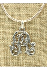 """Mariano Draghi SS Initial R Med.Pendant (1 1/2"""") Lg Bail"""