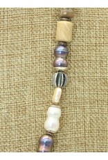 Judy Perlman SS/Fossil Coral & Pearls Necklace