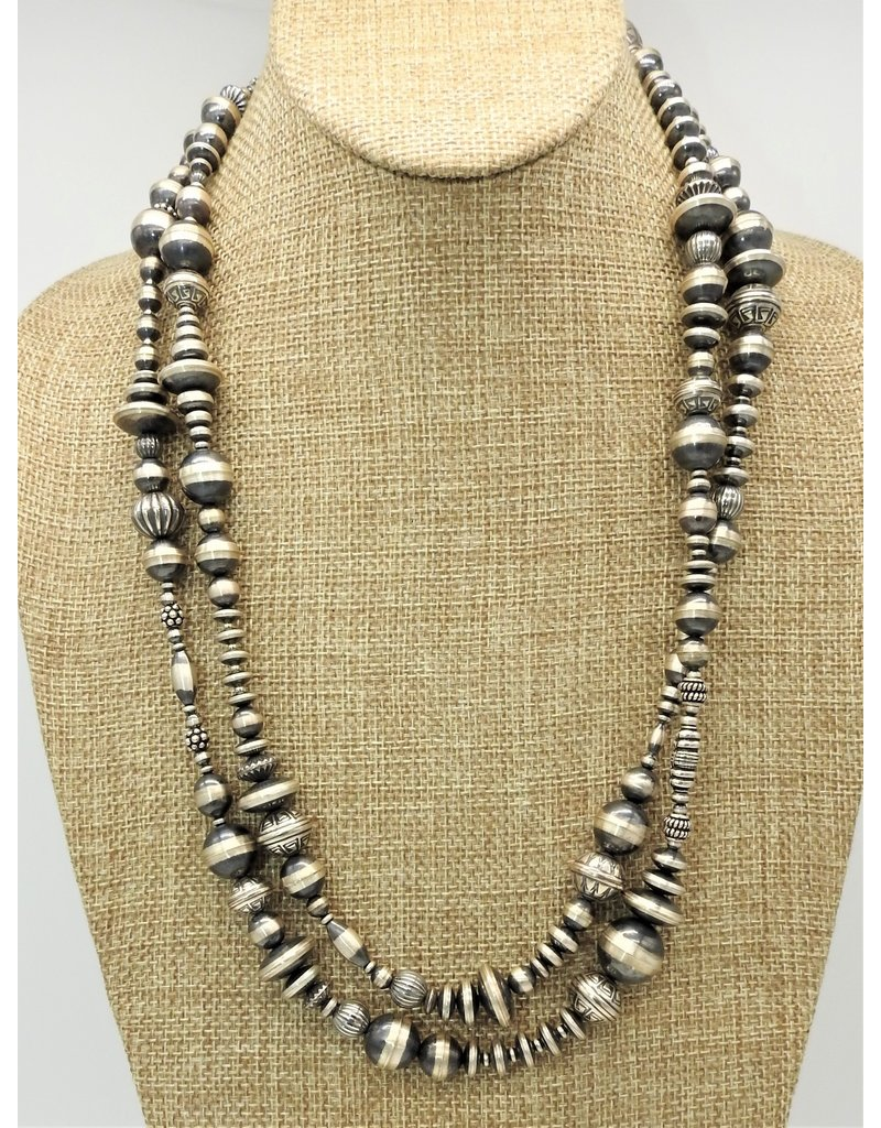 "SW Native American SW-N 48"" Multi Size Navajo Pearls Necklace"