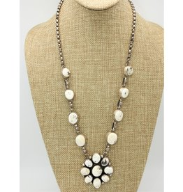 SW Native American White Buffalo Necklace