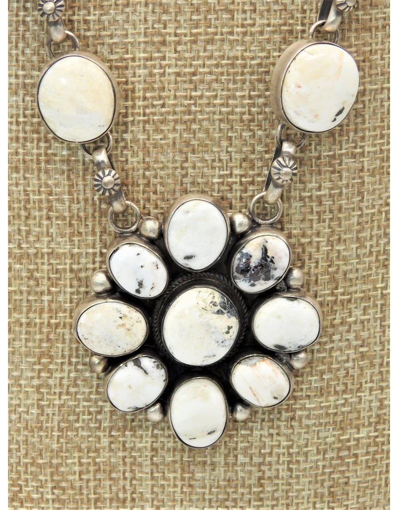 SW Native American White Buffalo Necklace