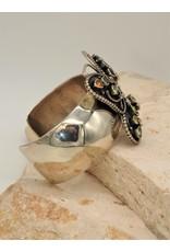 SW Native American Bracelet Butterfly/Multi Stn.Sz6