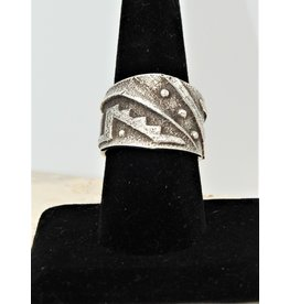 SW Native American SW Sterling Overlay Wide Band Ring