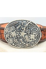 SW Native American Freedom Buckle