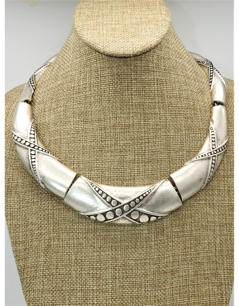 Pewter Couture 1238NF Pewter Necklace