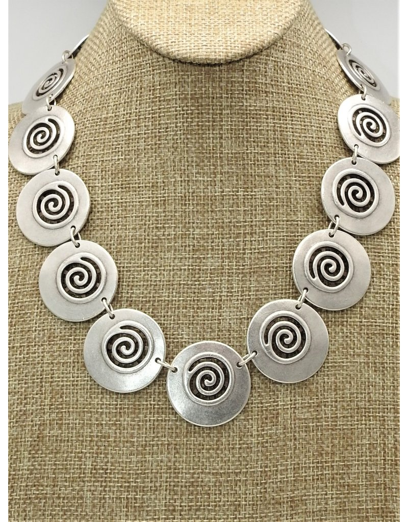Pewter Couture 1526 Pewter Necklace