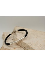 Pewter Couture Pewter & Leather Bracelet