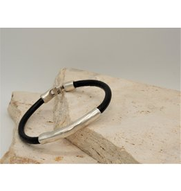 Pewter Couture NB2061 Pewter & Leather Bracelet