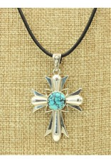 Shreve Saville SS Cross Bluemoon Turquoise Cross 20""