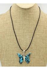 "Shreve Saville Bluemoon Turquoise Butterfly 20"""