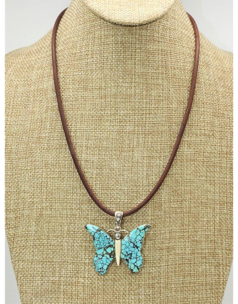 "Shreve Saville Bluemoon Turquiose Butterfly 20.5"""