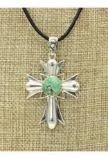 """Shreve Saville SS Cross w/Natural Grasshopper Turquoise, 20"""""""