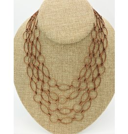 Aymala Studio 401 Vntg Copper Loop 3 Strnd Cleop.Choker