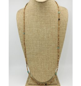 Aymala Studio 301-2 Largo Brass/Turq Beads-Long