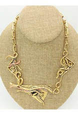 Pewter Couture Wire brass necklace