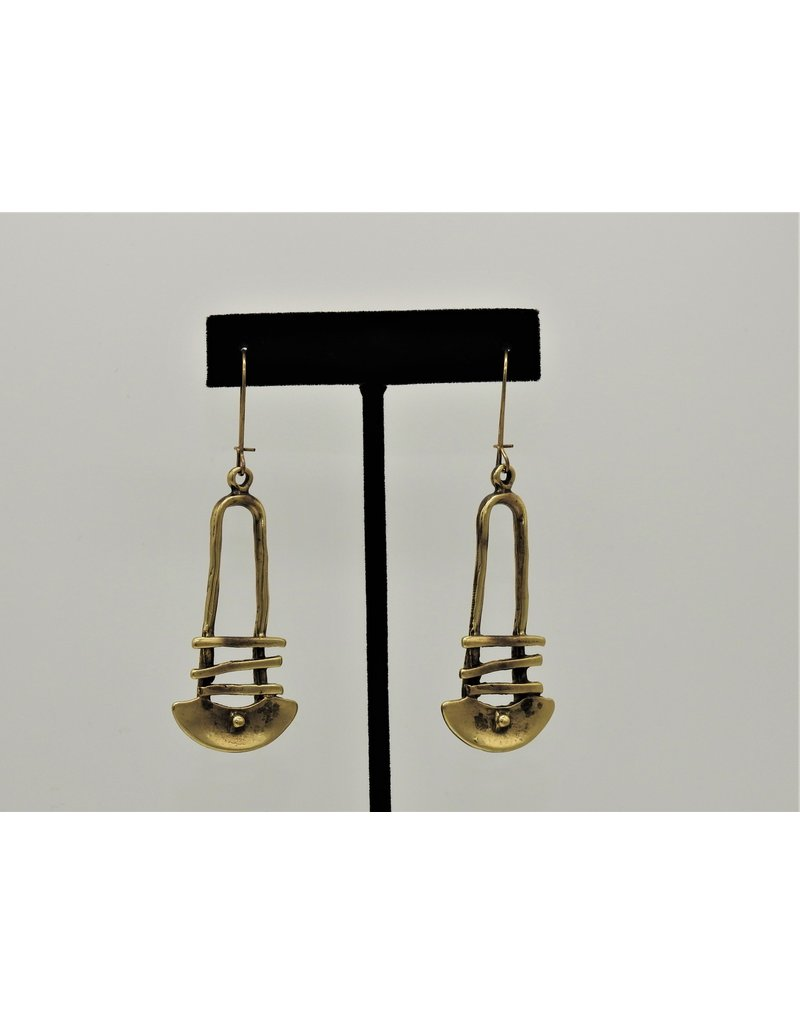 Pewter Couture KU141 Antq. Bronze Earrings