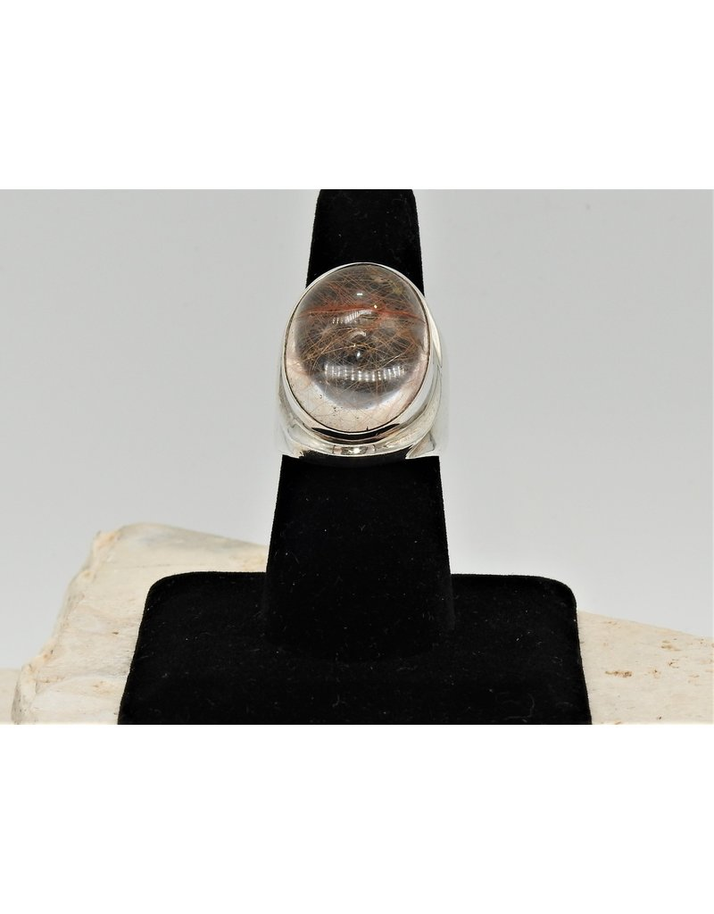 Shreve Saville SRS-R63C SS, Rutilated Quartz Ring size 8