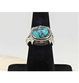 Shreve Saville SRS-R69C SS with Oval Turquoise Ring size 8