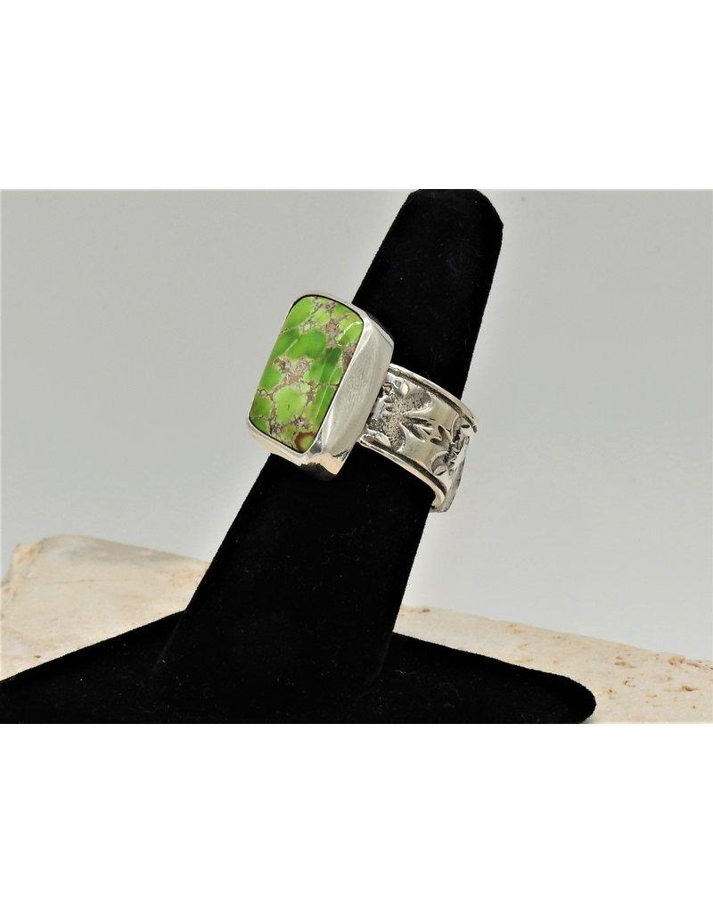Shreve Saville Grasshopper Turquoise Ring size 7.5