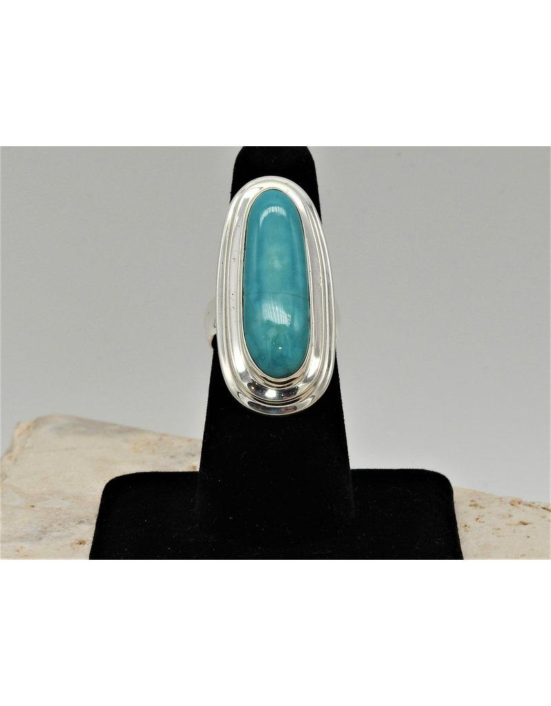 Shreve Saville Fox Turquoise Ring sz 7