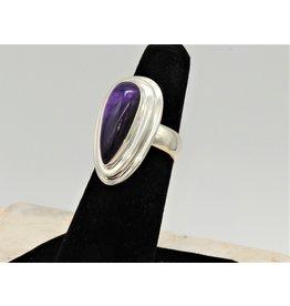 Shreve Saville Sterling Silver & Sugilite Ring sz 6