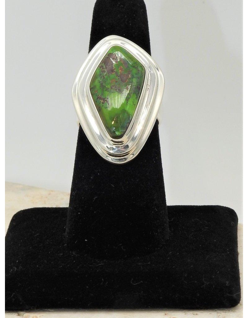Shreve Saville Grasshopper Turquoise Ring size 7