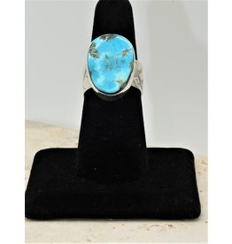 Shreve Saville Concho Springs Turquoise Ring size 7.5