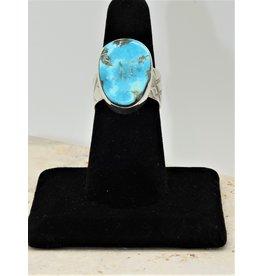 Shreve Saville SRS-R155C Concho Springs Turquoise Ring size 7.5