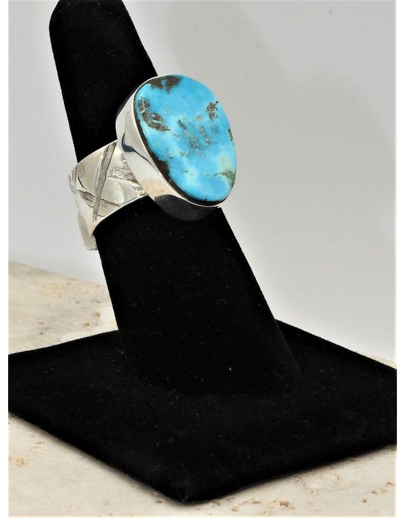 Shreve Saville Concho Springs Turquoise Ring size 7.5
