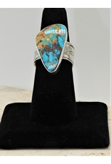 Shreve Saville Thunder Mountain Turquoise Ring sz 7.5
