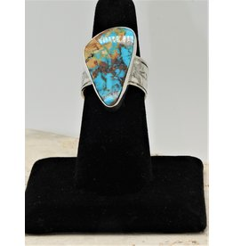 Shreve Saville Thunder Mountain Turquoise Ring sz 7.5