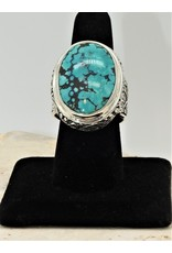 Shreve Saville SRS-R50C Lg. Blue Turquoise Oval Ring size 8.5
